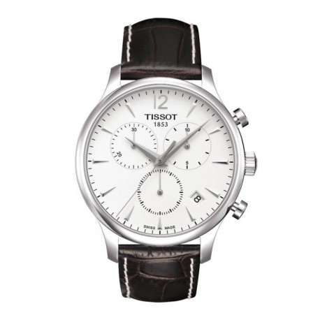 Tissot T Classic Tradition Chronograph Silver Dial Mens Watch