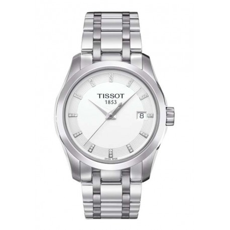 Tissot Couturier Silver Dial Stainless Steel Ladies Watch