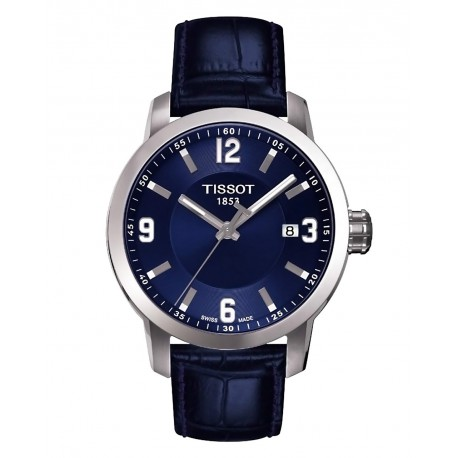 Tissot PRC 200 Quartz Blue Dial Blue Leather Sport