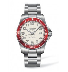 LONGINES Hydro Conquest White Dial Red Bezel