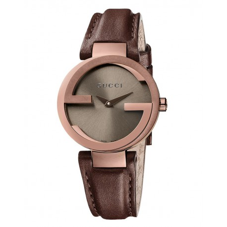 Gucci Interlocking G Small Brown Dial Ladies Watch YA133504