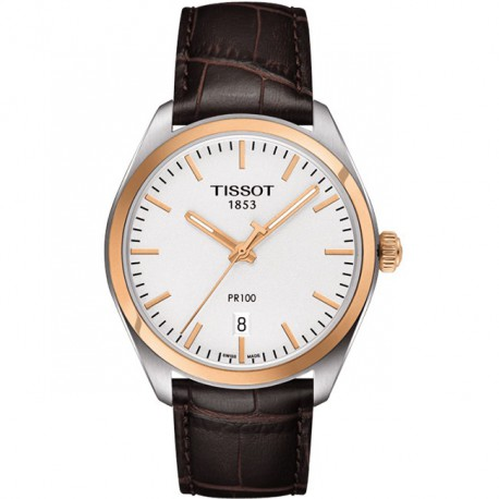 Tissot PR 100 Quartz Silver Brown