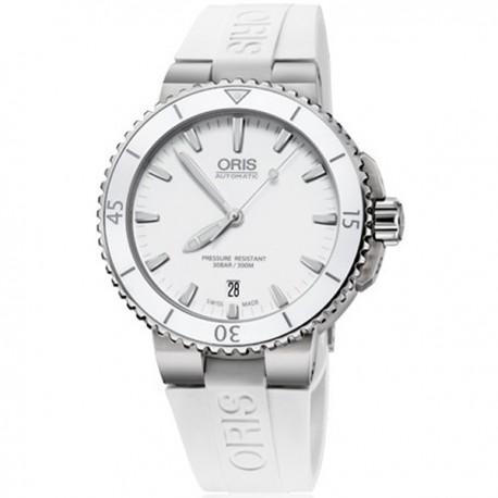 Oris Aquis Date White