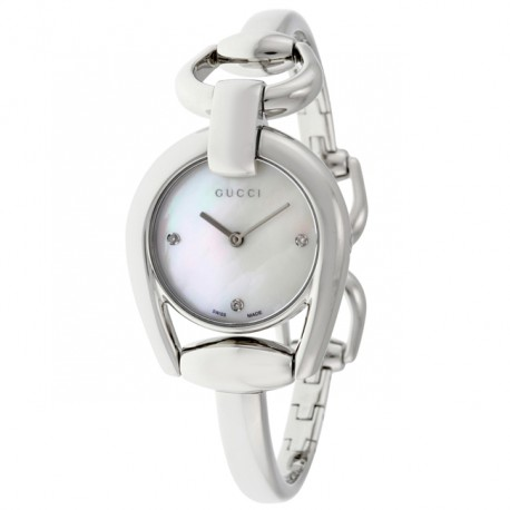 Gucci Ladies Horsebit Diamond YA139506