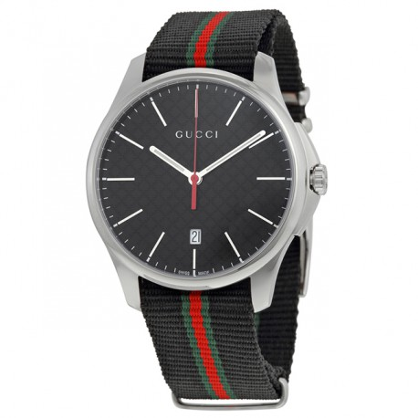 Gucci G Timeless G-Timeless Black Dial Fabric YA126321