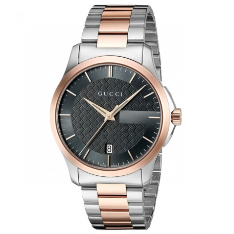 Gucci G-Timeless Grey Dial Two-tone YA126446
