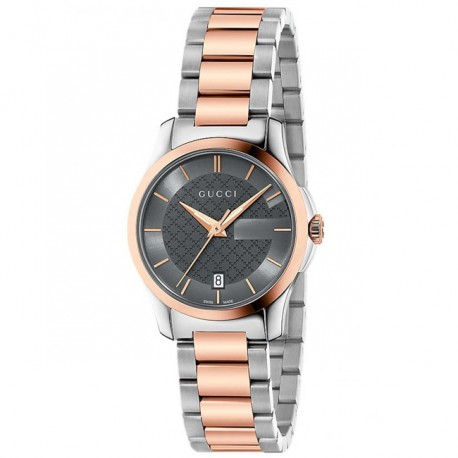 Gucci G-Timeless Grey Dial Ladies Watch YA126527