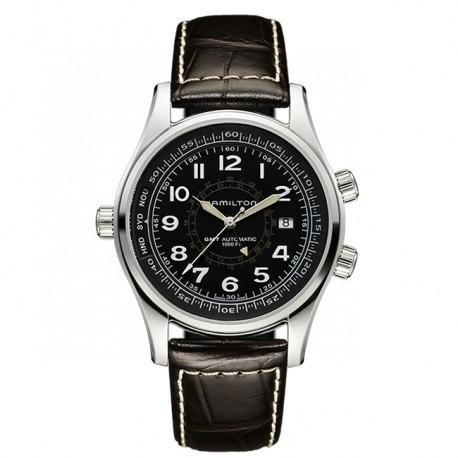 Hamilton Khaki Navy UTC Black Dial H77505535