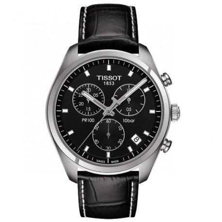 Tissot PR100 Chronograph Black Dial