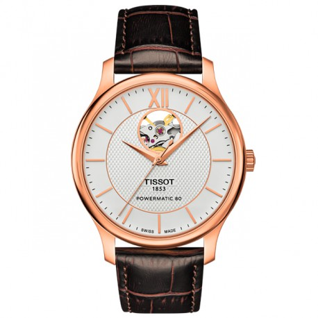 Tissot Tradition Powermatic 80 Open Heart T0639073603800