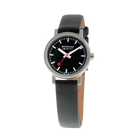 MONDAINE Ladies Quartz Evo Leather Band