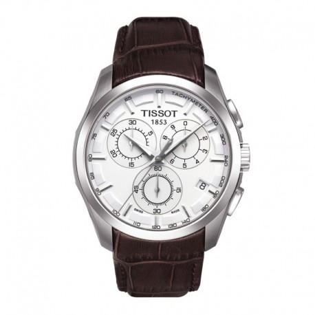 Tissot Couturier Silver Chronograph Dial Watch T0356171603100