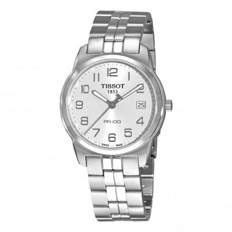 Tissot PR 100 Silver Dial Bracelet Mens Watch
