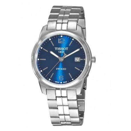 Tissot PR 100 Blue Dial Bracelet Watch