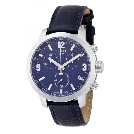 Tissot PRC 200 Chronograph Blue Dial Blue Leather