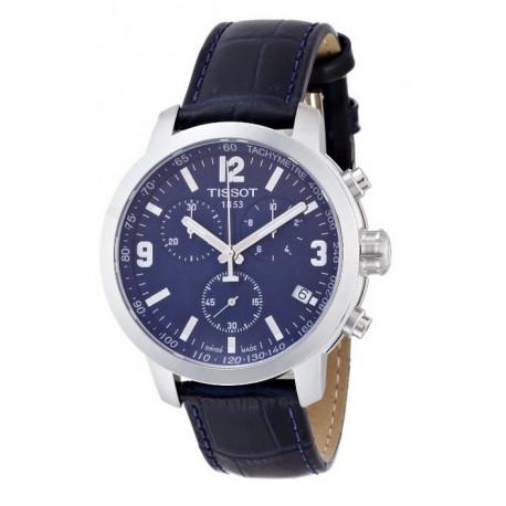 Tissot PRC 200 Chronograph Blue Dial Blue Leather