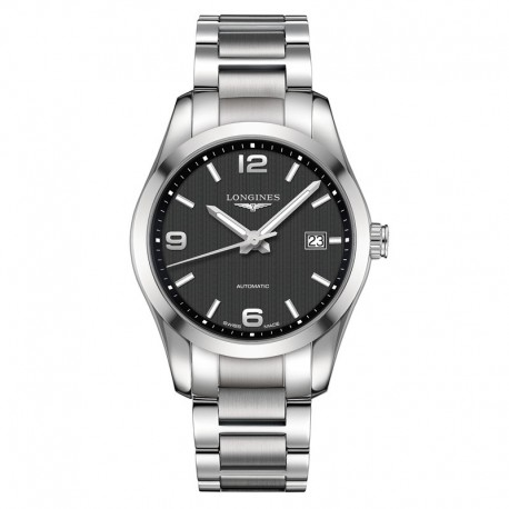 LONGINES Conquest Automatic Black Dial Stainless