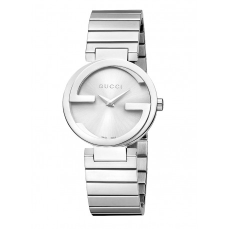 Gucci Interlocking Small Silver Dial Stainless Steel Ladies Watch YA133503