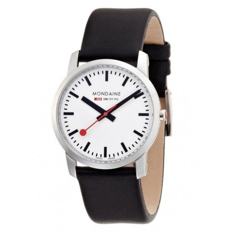 MONDAINE Ladies Simply Elegant Leather Band Watch