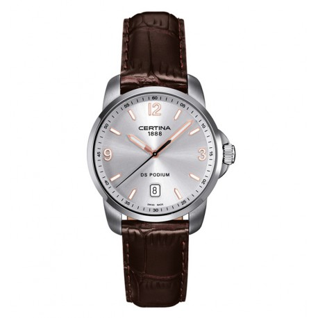 Certina DS Podium CR Q Steel Brown Silver Dial