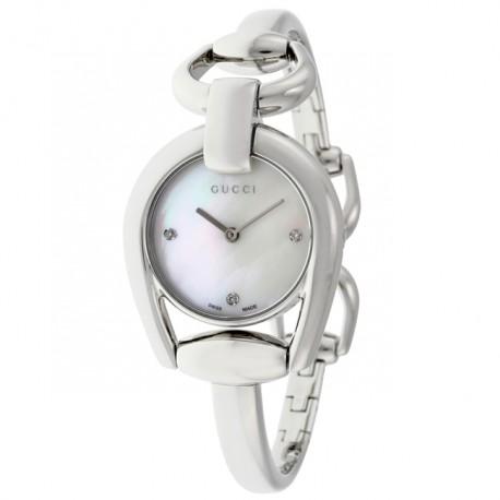 Gucci Ladies Horsebit Diamond YA139506