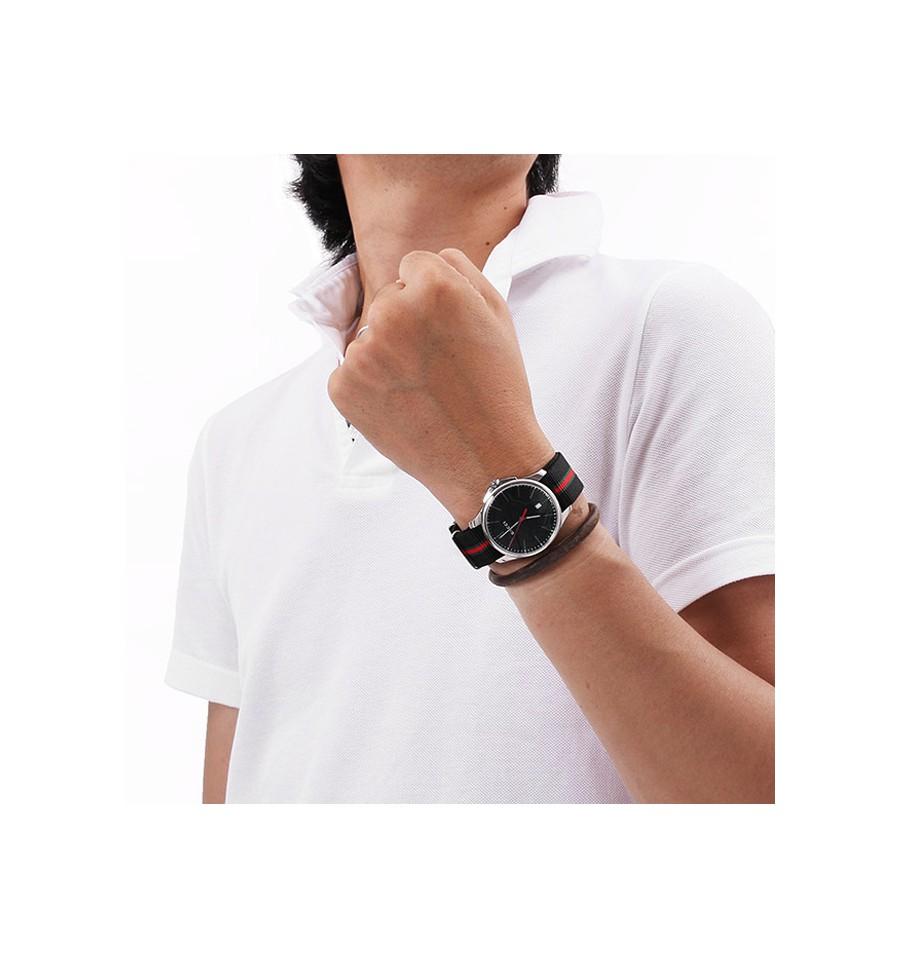 8bd6fe7a1ba ... Gucci G Timeless G-Timeless Black Dial Fabric YA126321