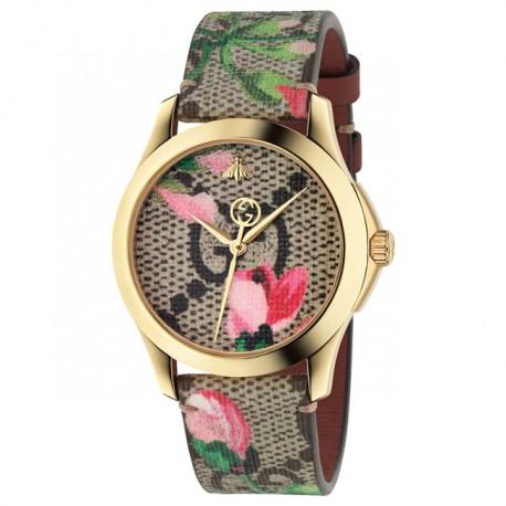 Gucci G Timeless Pink Blooms Print Watch YA1264038