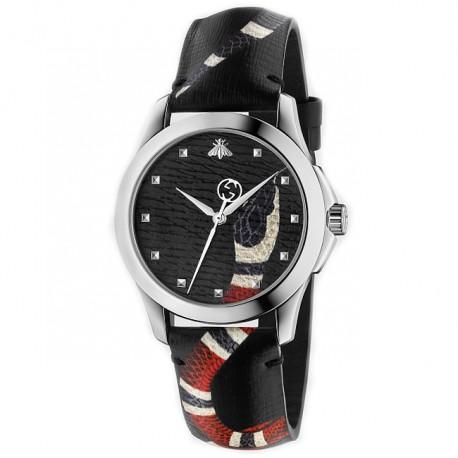 Gucci Le Marche Des Merveilles Black Dial Watch YA1264007
