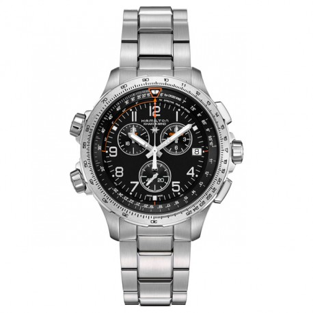 HAMILTON Khaki X-Wind Chrono Quartz GMT H77912135